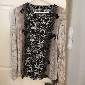 Dana Buchman XL Long-Sleeved Blouse